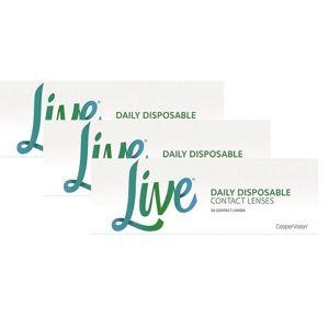 Live daily disposable (90 šošoviek) Ostatné Jednodenné silikón-hydrogélové sférické Športové